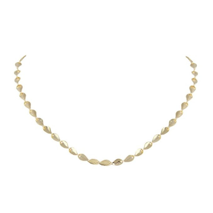 Gloria Leaf Chain Necklace