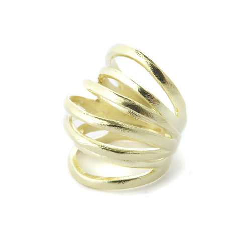 Marcia Moran Cubi Multi Band Ring AM828 Gold
