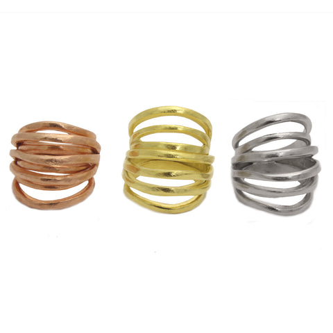 Marcia Moran Cubi Multi Band Ring AM828