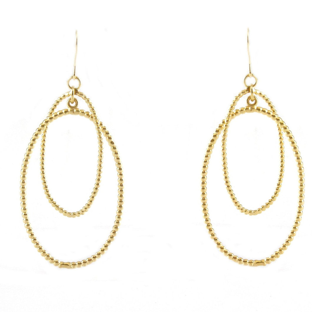 Carmen Double-Hoop Texture Earrings