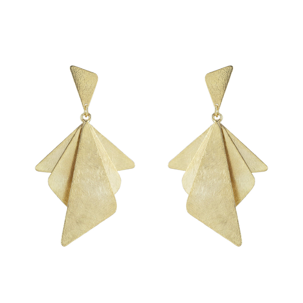 Mathilde Fan Geometric Earrings