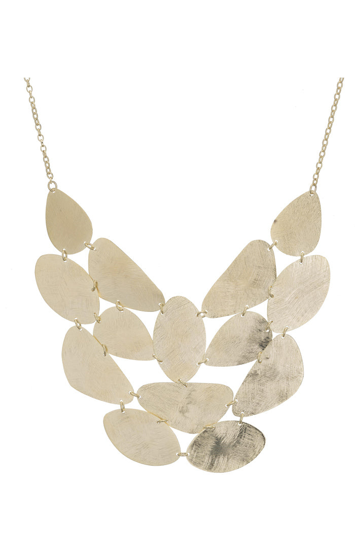 Blanc Statement Pebble Bib Necklace