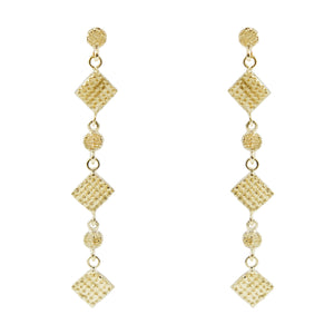 Eirini Embossed Chandelier Earrings