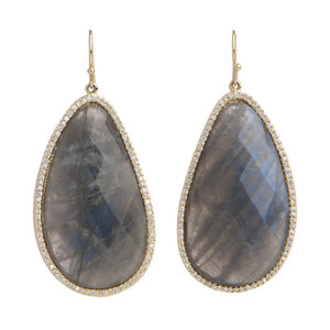 BB172e Marcia Moran Mirabelle Stone Drop Earrings in Labradorite