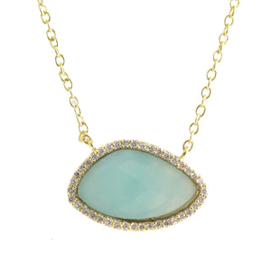 VALENCIA AND ARLISE ORGANIC SHAPE GEMSTONE NECKLACE