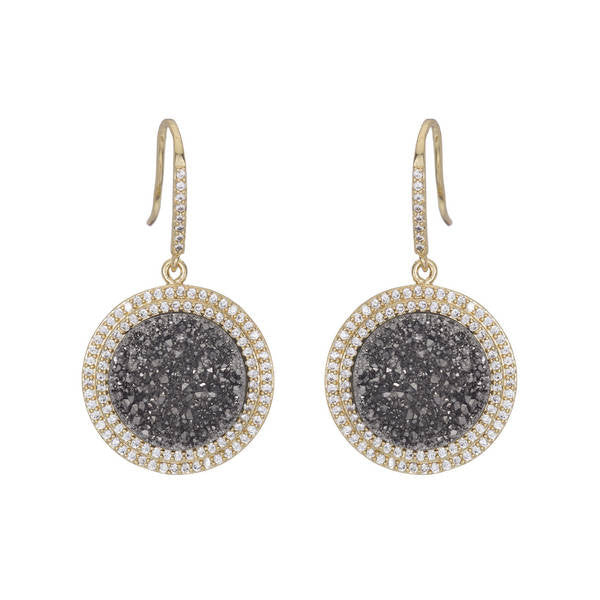 Marcia Moran Comet Earrings in Titanium Druzy