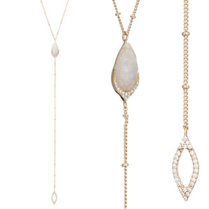 Marcia Moran Fay BB283p Lariat Necklace