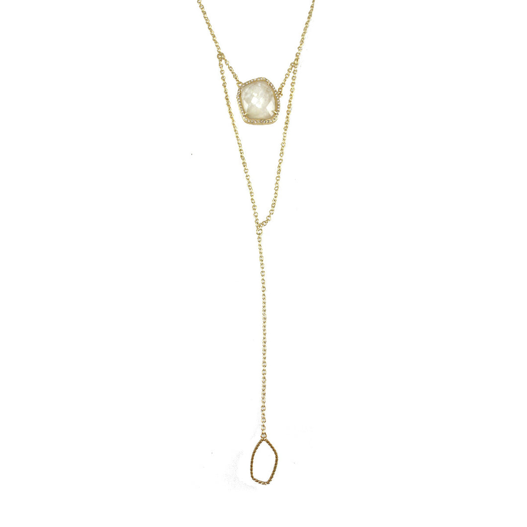 NATALIE LARIAT TIERED NECKLACE