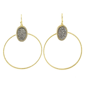 Abigail Stone And Circle Earrings