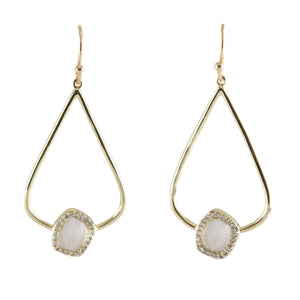 Lisa Small Drop Earrings with Stone