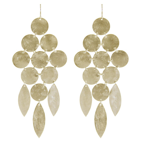 BF775 Marcia Moran Swank Circle Drop Chandelier Earrings