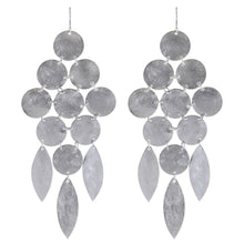 Marcia Moran Beatrix Classic Statement Chandelier Earrings RHODIUM/Silver