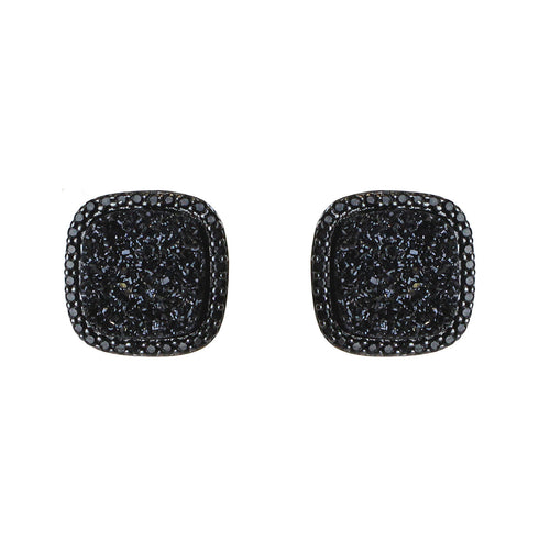 AFFINITY AND PIPER CZ FRAMED SQUARE STUD EARRINGS