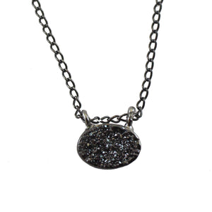 NORTH BITTY BLACK DRUZY NECKLACE