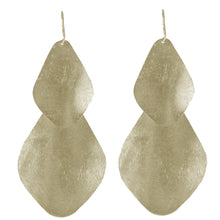 Chryssa Curved Oval Earrings