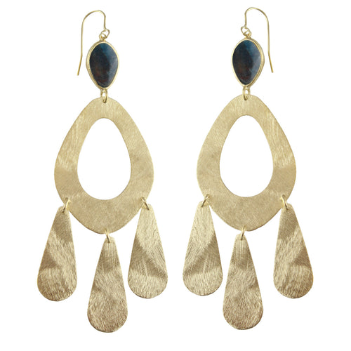 CURSON STONE EMBELLISHED EARRINGS