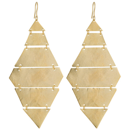 Marcia Moran Canary Diamond shaped Earrings in GOLD