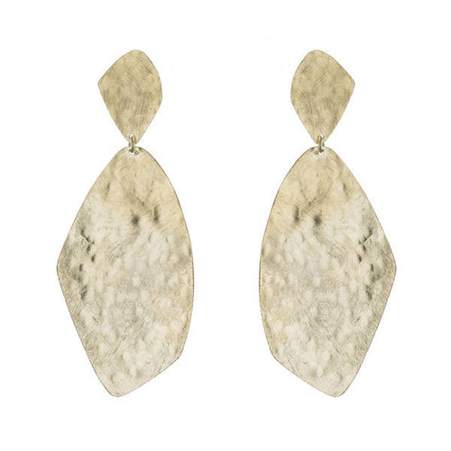 Marcia Moran 18K Gold plated organic diamond shaped earrings