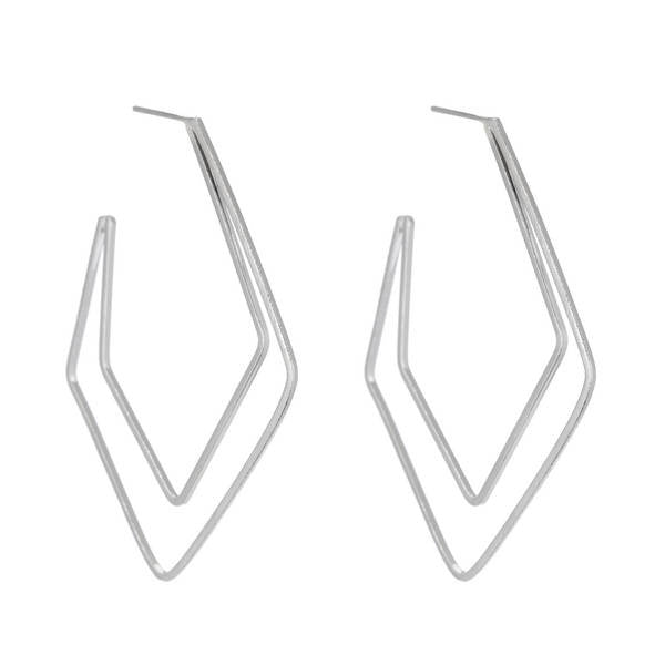 Marcia Moran Tora Geometric Hoop Earrings br078