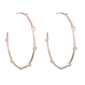 MARTINA DOTTED HOOP EARRINGS