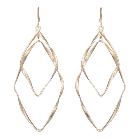 Brie Double Open Twined Earrings