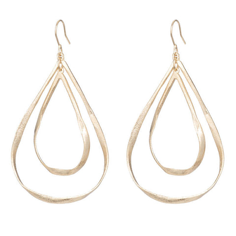 Marcia Moran Bleeker Gold Drop Earrings BR165