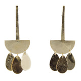 Riri Geometric Extended Drop Earrings