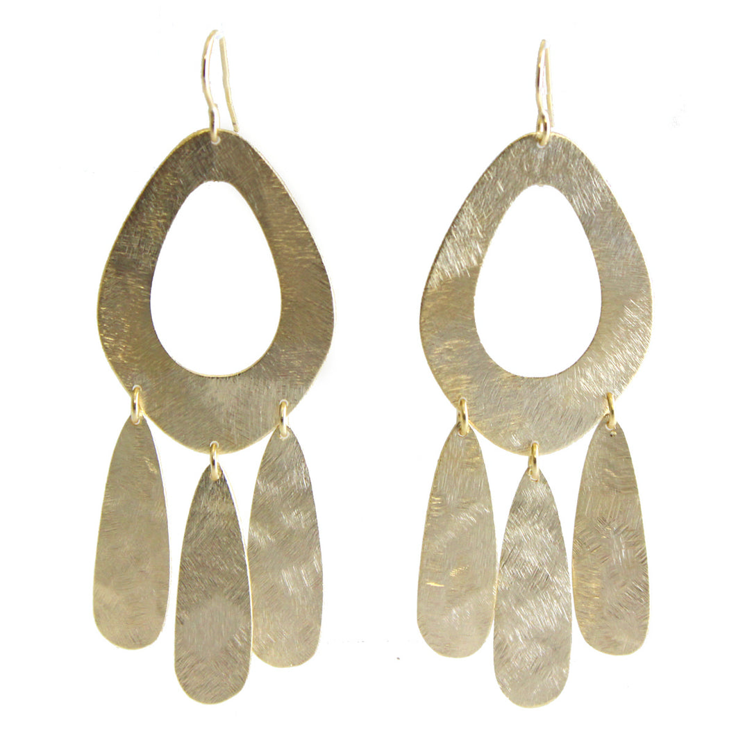Mya Drop Earrings with Fringe