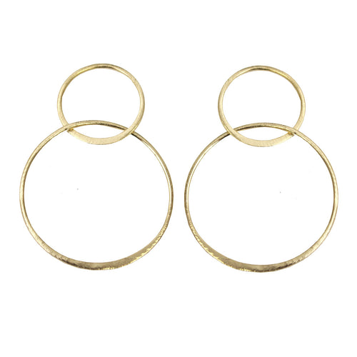 JEANNIE OPEN CIRCLE EARRINGS