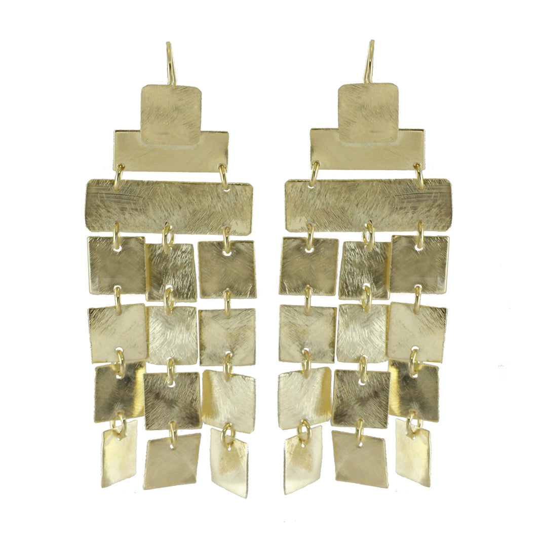 Canne Square Charm Chandelier Earrings