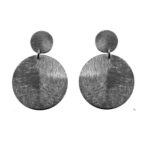 Oxford Post Brushed Coin Earrings