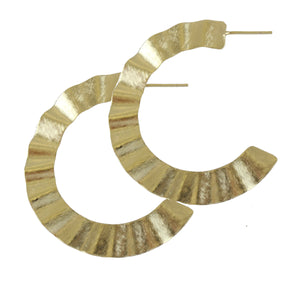 CREPE HOOP EARRINGS