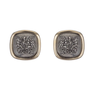 NESSA LARGE SQUARE STUD EARRINGS