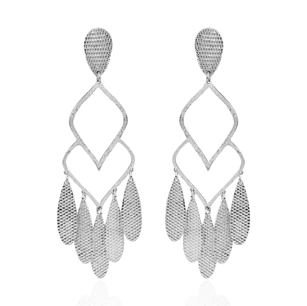 Avah Chandelier Earrings with Texture
