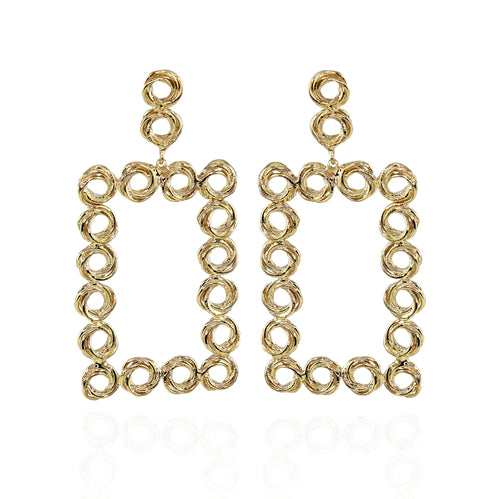 Magda Chandelier Swirl Earrings