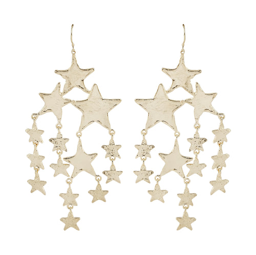 The Candis Cascading Star Earrings