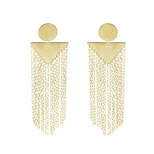 Kayly Statement Geometric Fringe Earrings