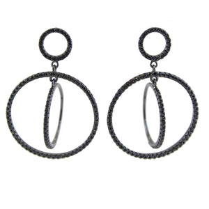 Brandy Cubic Zirconia Orbit Earrings