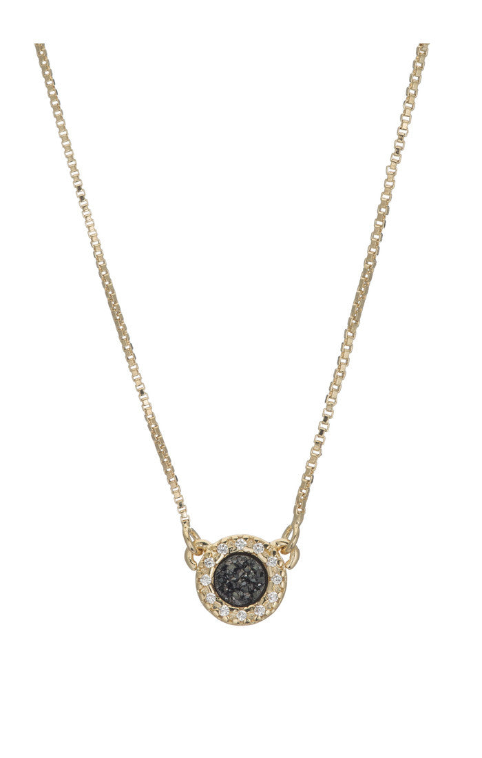 ANIESE SMALL CIRCLE DRUZY PENDANT