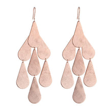 Marcia Moran Carola Drop Chandelier Earrings BM702 Rose Gold Raindrop