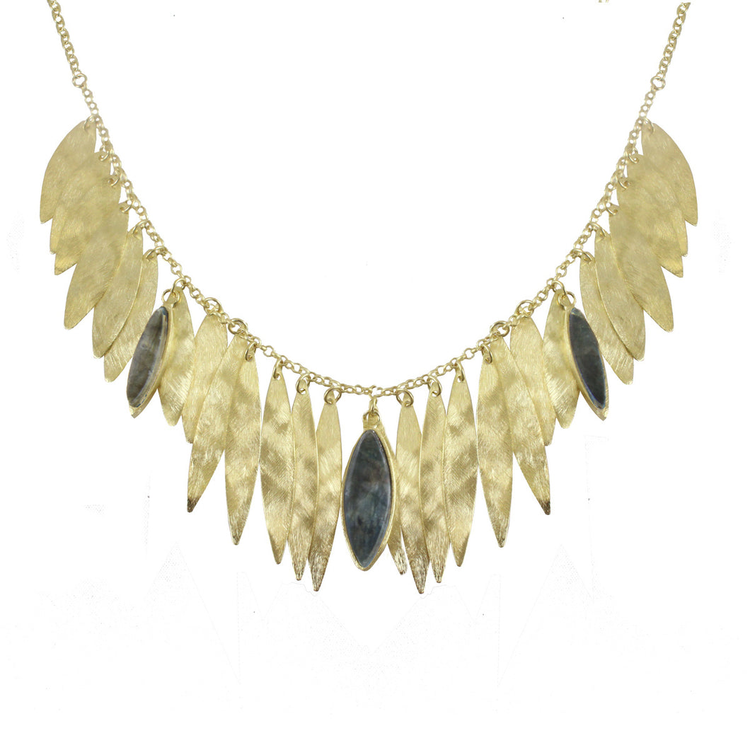 CIENEGA STONE EMBELLISHED BIB NECKLACE