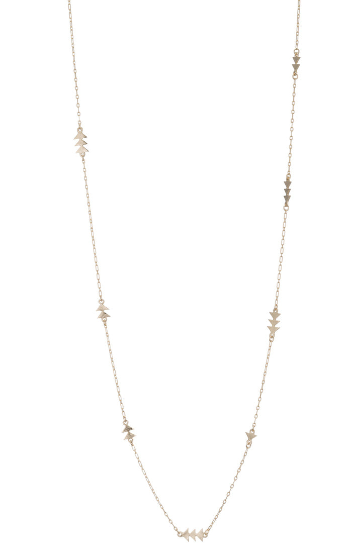 Lancea Long Necklace with Arrow Details
