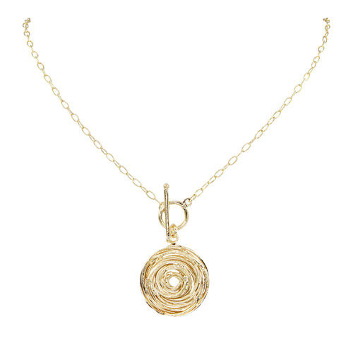 Franka T Bar Swirl Necklace