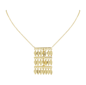 Morgane Tier Pendant Leaf Necklace