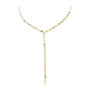 Alfreda Lariat Leaf Necklace