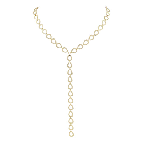 Luciane Textured Lariat Necklace