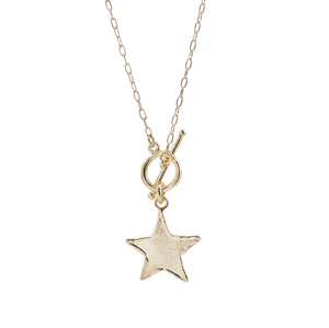 Eris Short T Bar Star Necklace
