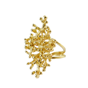 Adela Coral Cocktail Ring