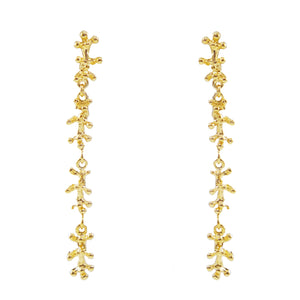 Esther Drop Dangle Coral Earrings