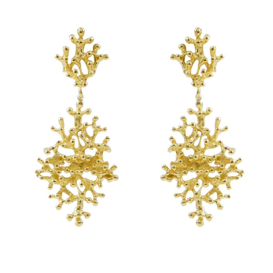 Lori Drop Coral Earrings